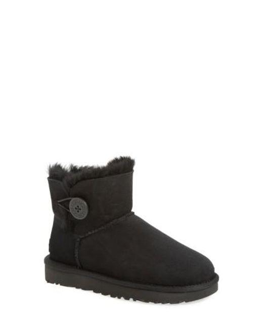Ugg - Black Ugg 'mini Bailey Button Ii' Boot - Lyst