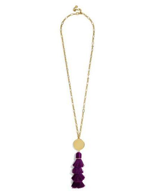 BaubleBar | Metallic Tahira Tassel Necklace | Lyst