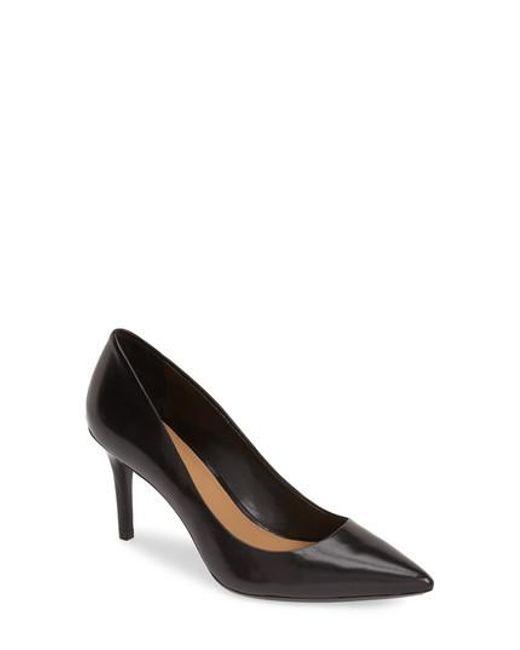 Calvin Klein - Black 'gayle' Pointy Toe Pump - Lyst
