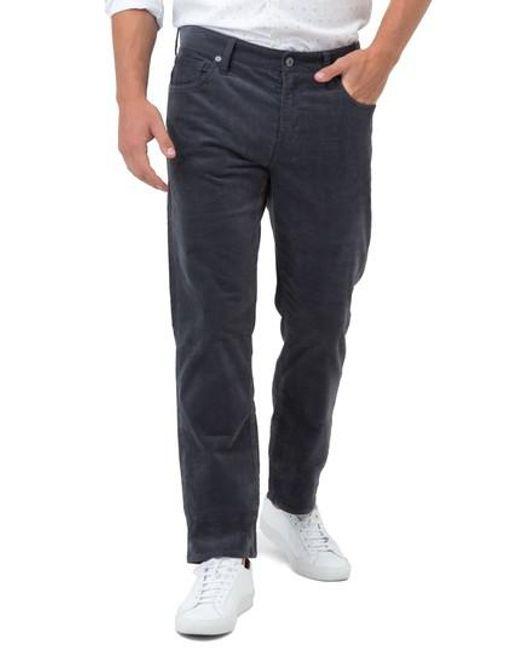 7 Diamonds | Gray Courtland Slim Fit Corduroy Pants for Men | Lyst