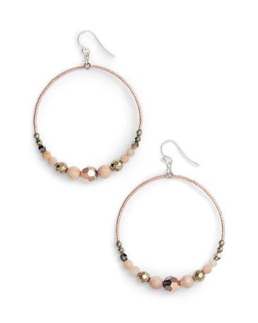 Chan Luu - Metallic Semiprecious Stone Frontal Hoop Earrings - Lyst