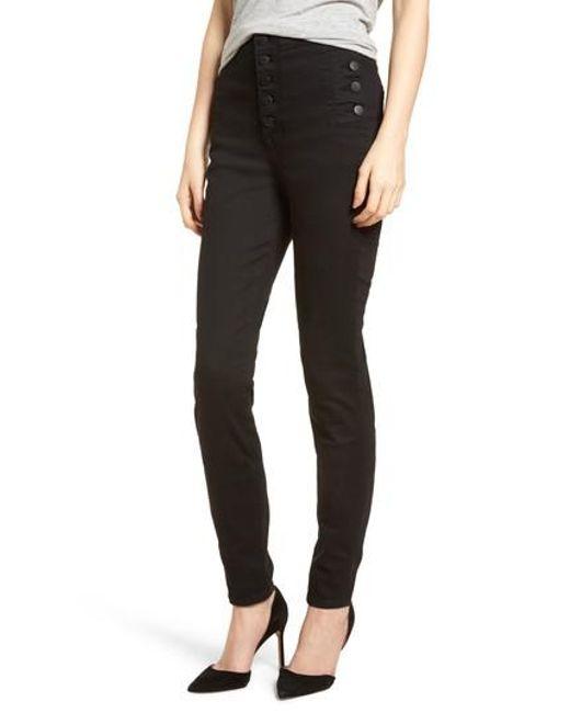 J Brand - Black Natasha Photoready High Waist Skinny Jeans - Lyst