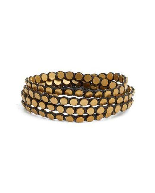 Serefina | Green Disk Wrap Bracelet | Lyst