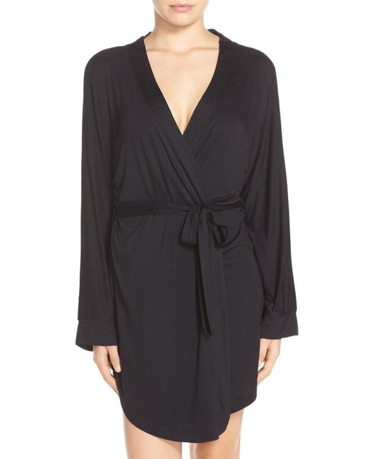 Honeydew Intimates - Black Jersey Robe - Lyst