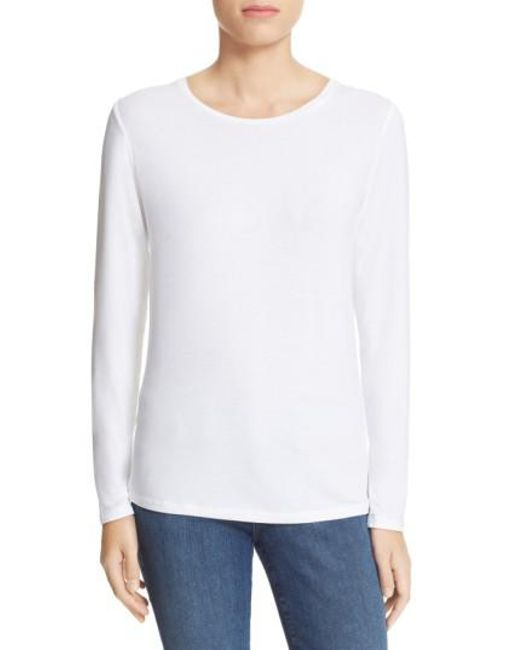 Majestic Filatures | White Long Sleeve Crewneck Top | Lyst