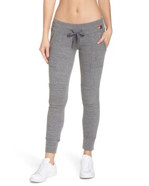 Aviator Nation - Gray Moto Sweatpants - Lyst