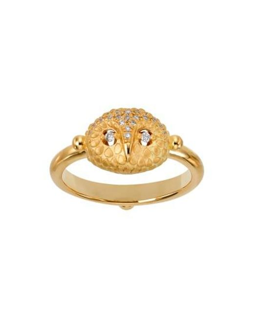 Temple St. Clair | Metallic Temple St. Clair Diamond Owl Ring | Lyst