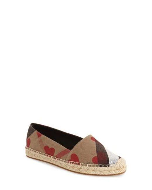 Burberry | Black Hodgeson Check Print Espadrille Flat | Lyst