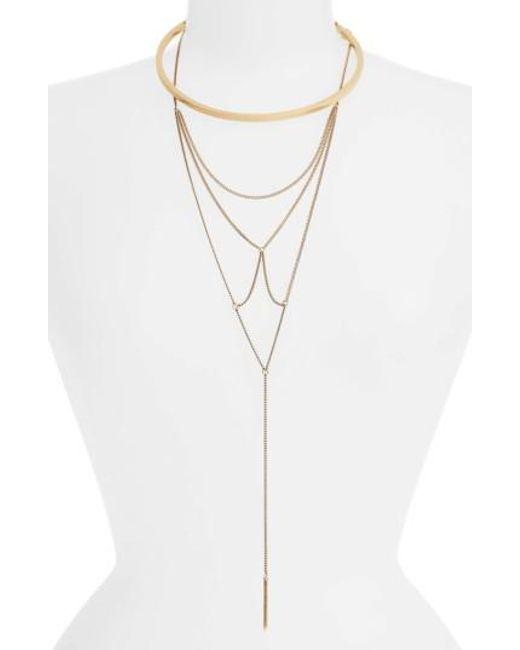 Jenny Bird | Metallic Neith Convertible Necklace | Lyst
