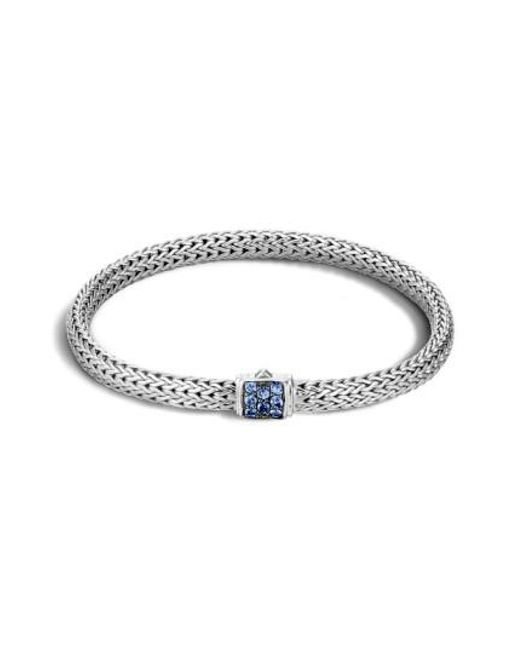 John Hardy | Blue 'classic Chain' Extra Small Bracelet | Lyst
