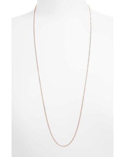 Monica Vinader - Metallic 32 Inch Adjustable Rolo Chain - Lyst