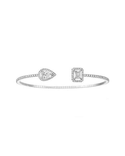 Messika | Metallic My Twin Open Diamond Cuff Bracelet | Lyst