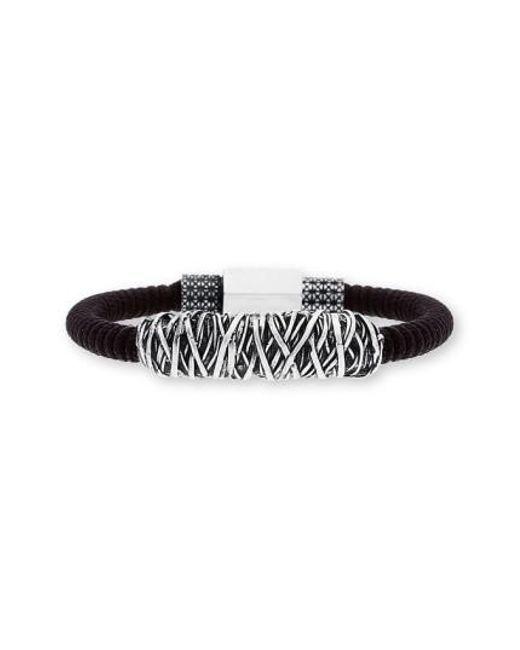 Steve Madden   Black Twisted Metal Cord Bracelet   Lyst