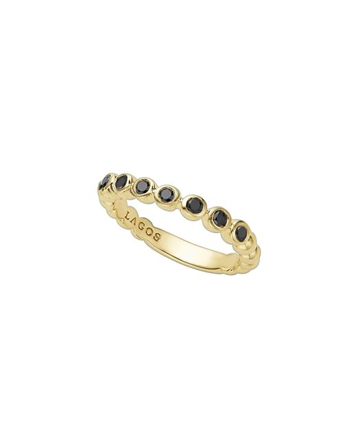 Lagos - Metallic Gold & Black Caviar Collection 18k Gold & Black Diamond Ring - Lyst