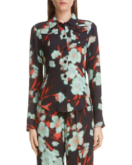 a696e117a7128 Dries Van Noten - Black Dires Van Noten Crinkled Floral Print Shirt - Lyst  ...