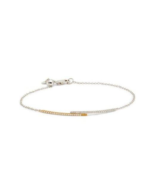 Bony Levy Metallic Two Tone Adjule Diamond Bar Bracelet Nordstrom Exclusive