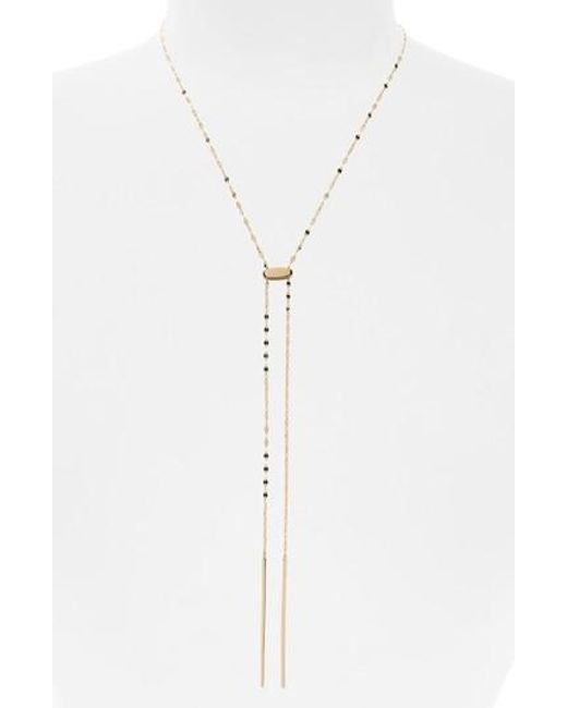 Lana Jewelry - Metallic Blake Tie Up Lariat Necklace - Lyst