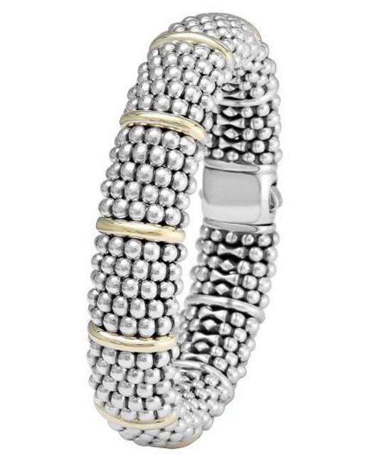 Lagos | Metallic Oval Caviar Bracelet | Lyst