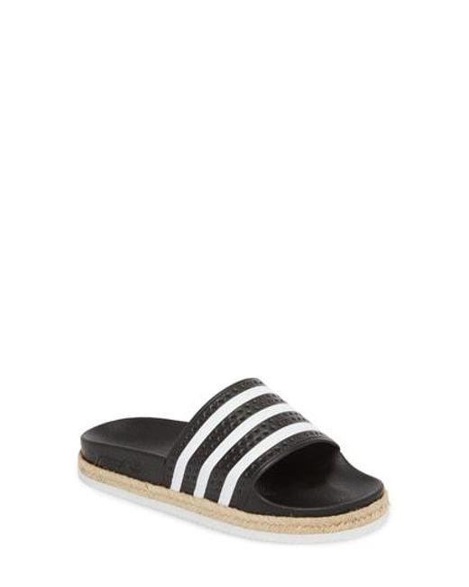 Lyst - Adidas  adilette  Slide Sandal - Save 45.56962025316456% 72266c146