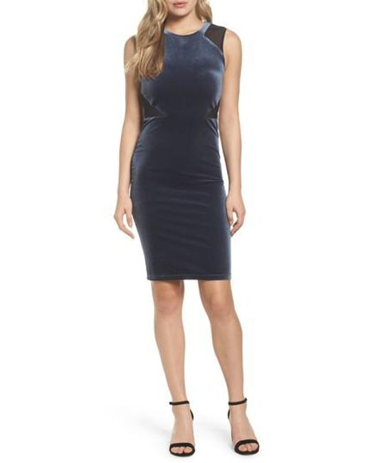 French Connection   Black Viven Velvet Body-con Dress   Lyst