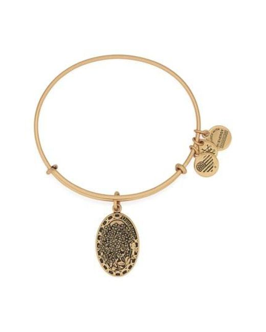 ALEX AND ANI - Metallic 'i Love You Daughter' Expandable Wire Bangle - Lyst