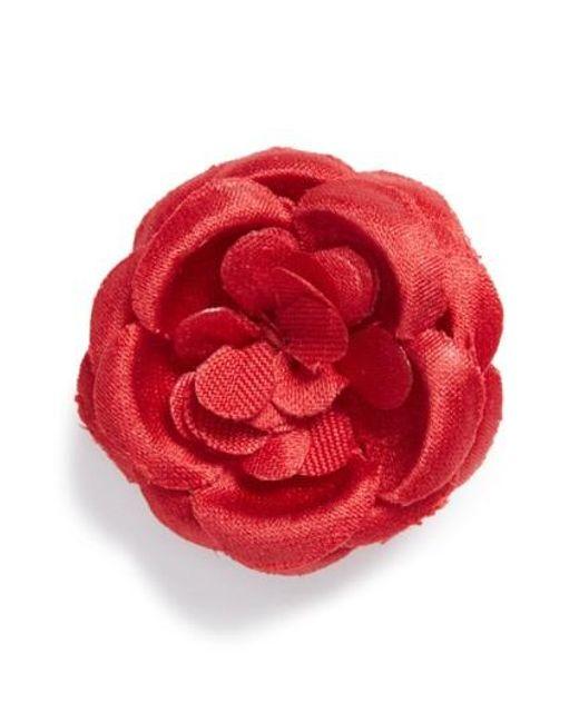 Hook + Albert   Red Lapel Flower   Lyst
