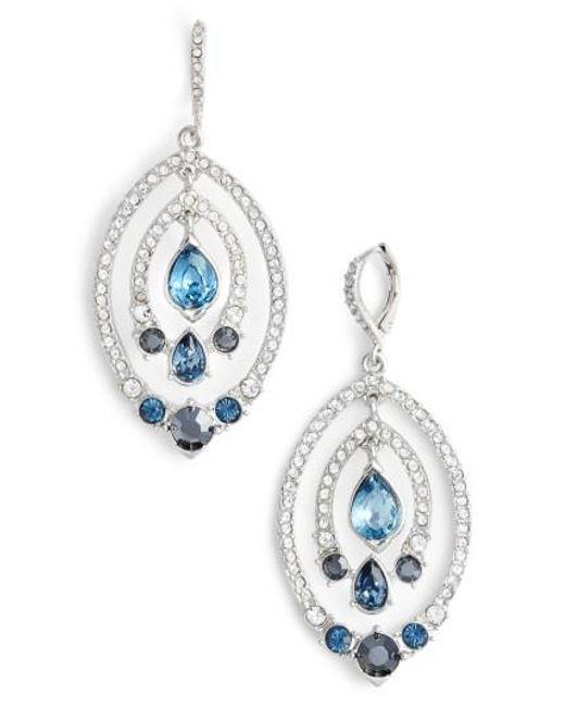 Jenny Packham | Blue Orbiting Drop Earrings | Lyst