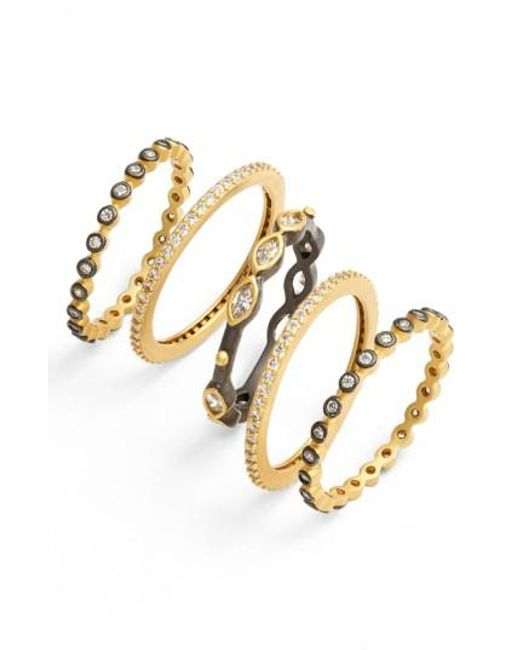 Freida Rothman | Metallic Delicate Stackable Rings (set Of 5) | Lyst