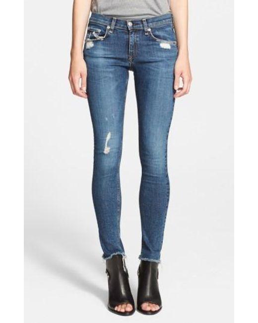 Rag & Bone | Blue 'the Skinny' Stretch Jeans | Lyst
