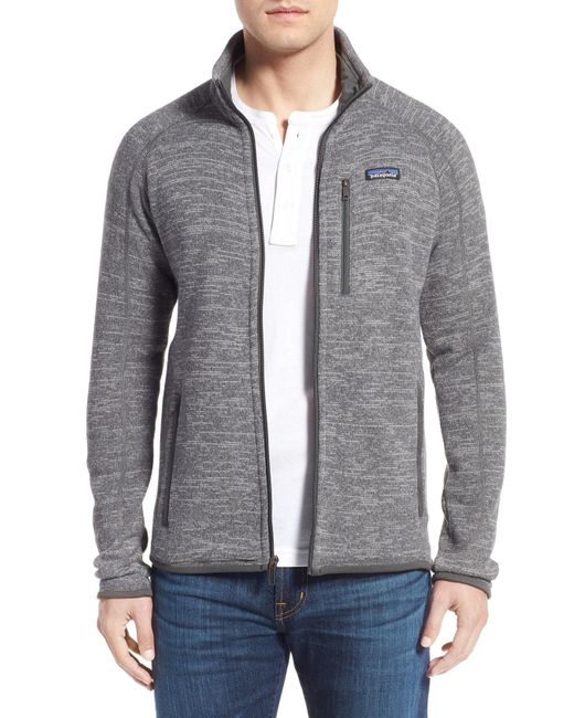 Patagonia - Gray 'better Sweater' Zip Front Jacket for Men - Lyst