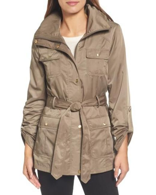 Ellen Tracy | Green Techno Short Trench Coat | Lyst