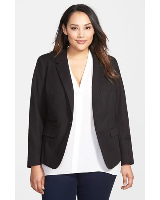 Vince Camuto | Black One-button Blazer | Lyst