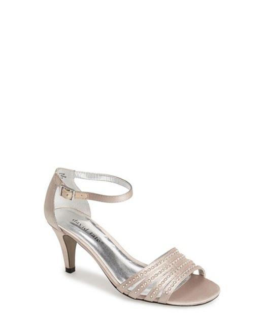 David Tate | Metallic 'terra' Ankle Strap Sandal | Lyst
