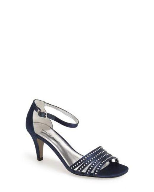 David Tate | Blue Terra Satin Sandals | Lyst