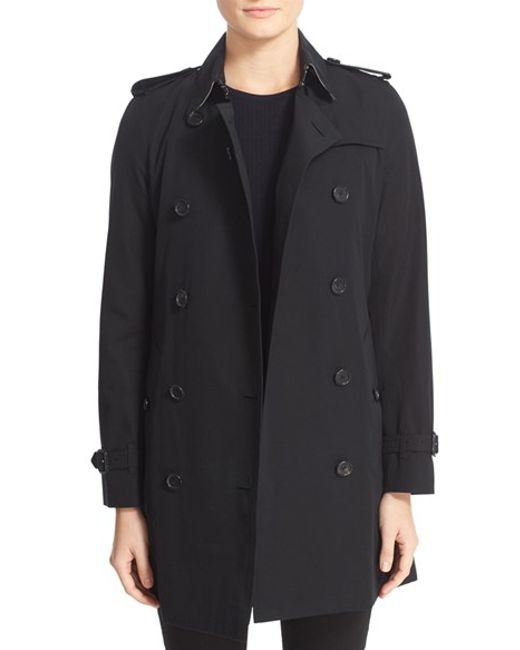 Burberry | Black 'kensington' Double Breasted Trench Coat | Lyst