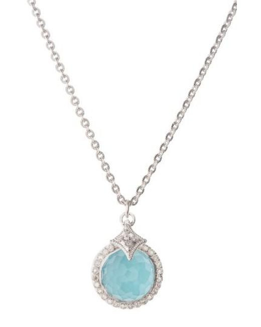 Armenta - Metallic New World Turquoise Pendant Necklace - Lyst