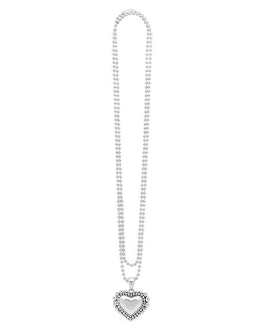 Lagos | Metallic Long Heart Pendant Necklace | Lyst