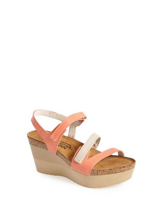 Naot | Orange 'canaan' Wedge Sandal | Lyst