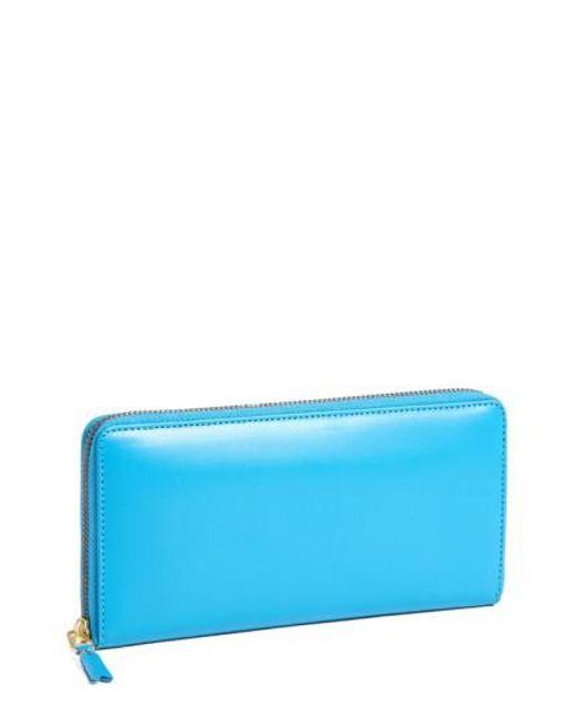 Comme des Garçons | Blue Continental Long Wallet for Men | Lyst