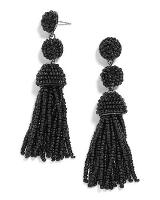 BaubleBar - Black New Mini Granita Tassel Earrings - Lyst