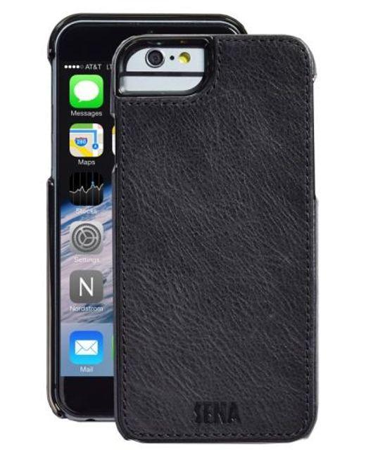 Sena | Black Heritage Lugano Leather Iphone 6/6s Case for Men | Lyst
