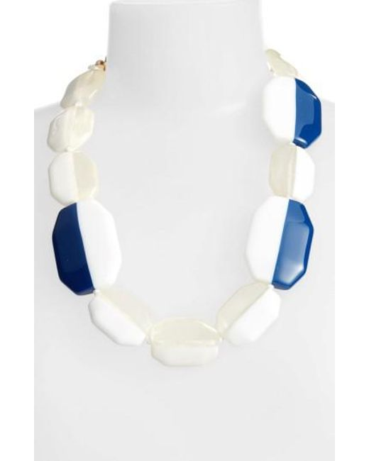 Adia Kibur - White Octagon Necklace - Lyst