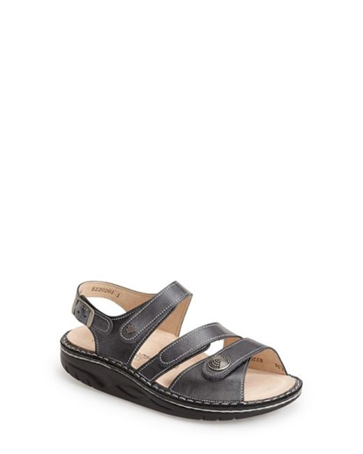 Finn Comfort | Gray 'tiberias' Leather Sandal | Lyst