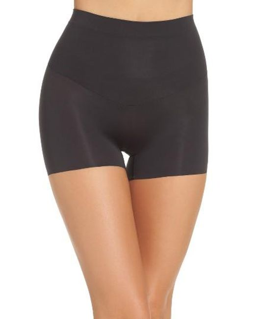 Spanx | Black 'shape My Day' Girl Shorts | Lyst