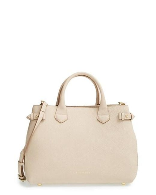 Burberry   Natural 'medium Banner' Leather Tote   Lyst