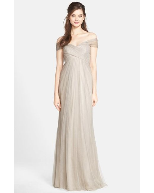Jenny Yoo | Natural 'willow' Convertible Tulle Gown | Lyst