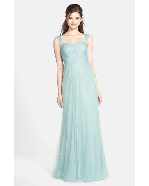 Jenny Yoo | Blue 'willow' Convertible Tulle Gown | Lyst