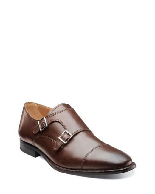 Florsheim | Brown 'sabato' Double Monk Strap Shoe for Men | Lyst