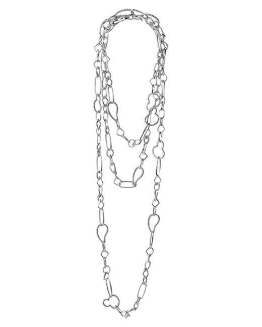 Lagos | Metallic 'link' Mixed Link Long Necklace | Lyst