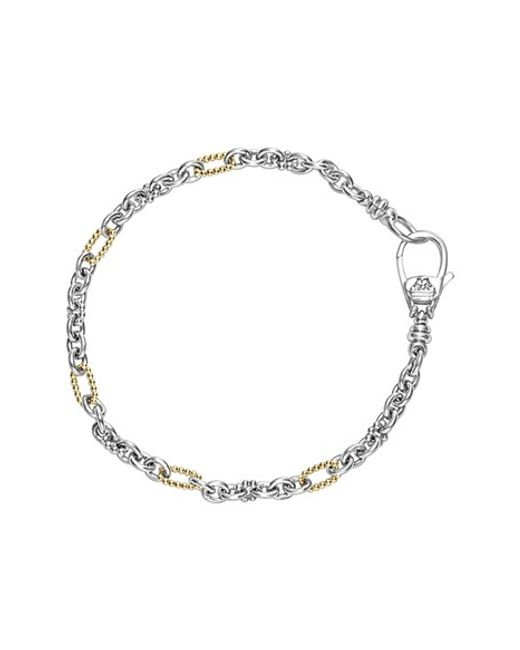 Lagos | Metallic 'link' Mixed Link Two-tone Bracelet | Lyst